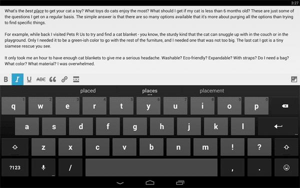 Мобильное приложение для блогов WP