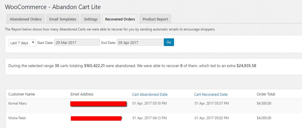 Заброшенная корзина Lite для WooCommerce