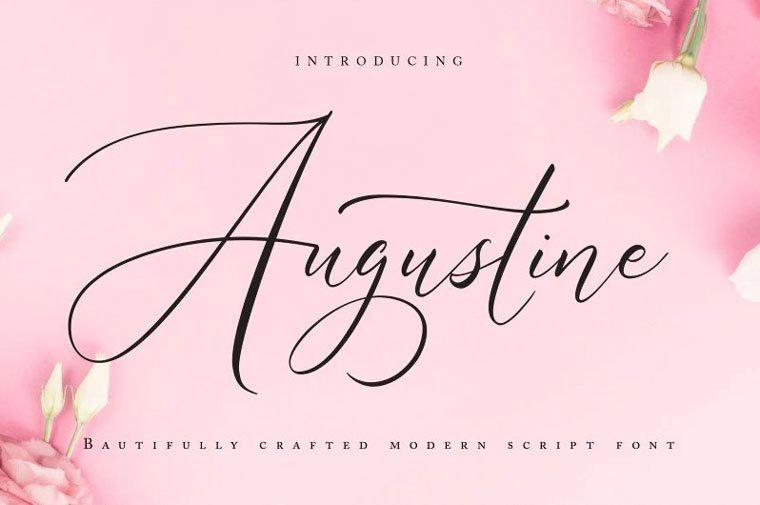 Августин | Modern Script Font.