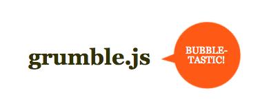 Это изображение круглой выноски всплывающей подсказки в форме пузыря. Это необычная подсказка. Оранжевый пузырь говорит о пузыре Этот плагин подсказки сделан с jquery. Это говорит grumble.js