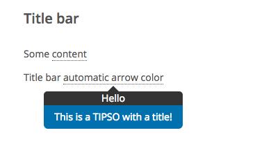 это пример всплывающей подсказки jquery, которая имеет два цвета и строку заголовка. это легкий и отзывчивый плагин jquery tooltip с анимацией css3. это также плагин WordPress Tooltip.