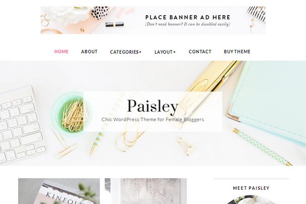 Пейсли WordPress Theme