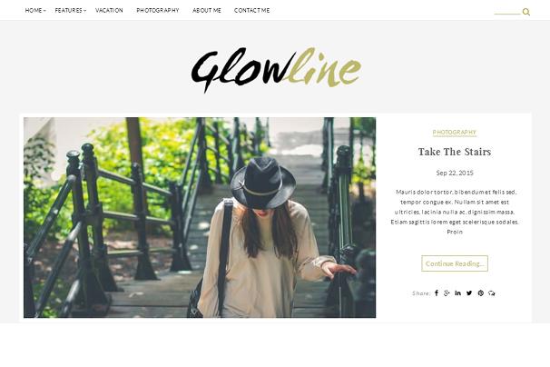 GlowLine WordPress Theme
