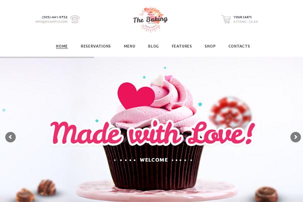 Тема пекарни WordPress Theme