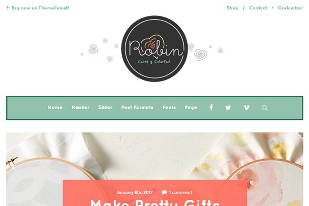 Робин WordPress Theme