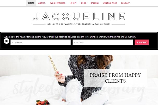 Жаклин Тема WordPress