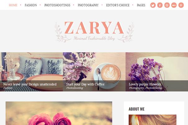 Заря WordPress Theme