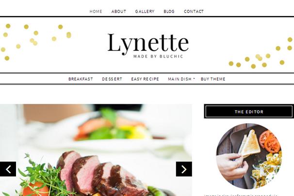 Линетт WordPress Theme