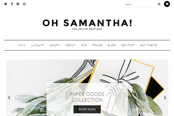 Саманта WordPress Theme