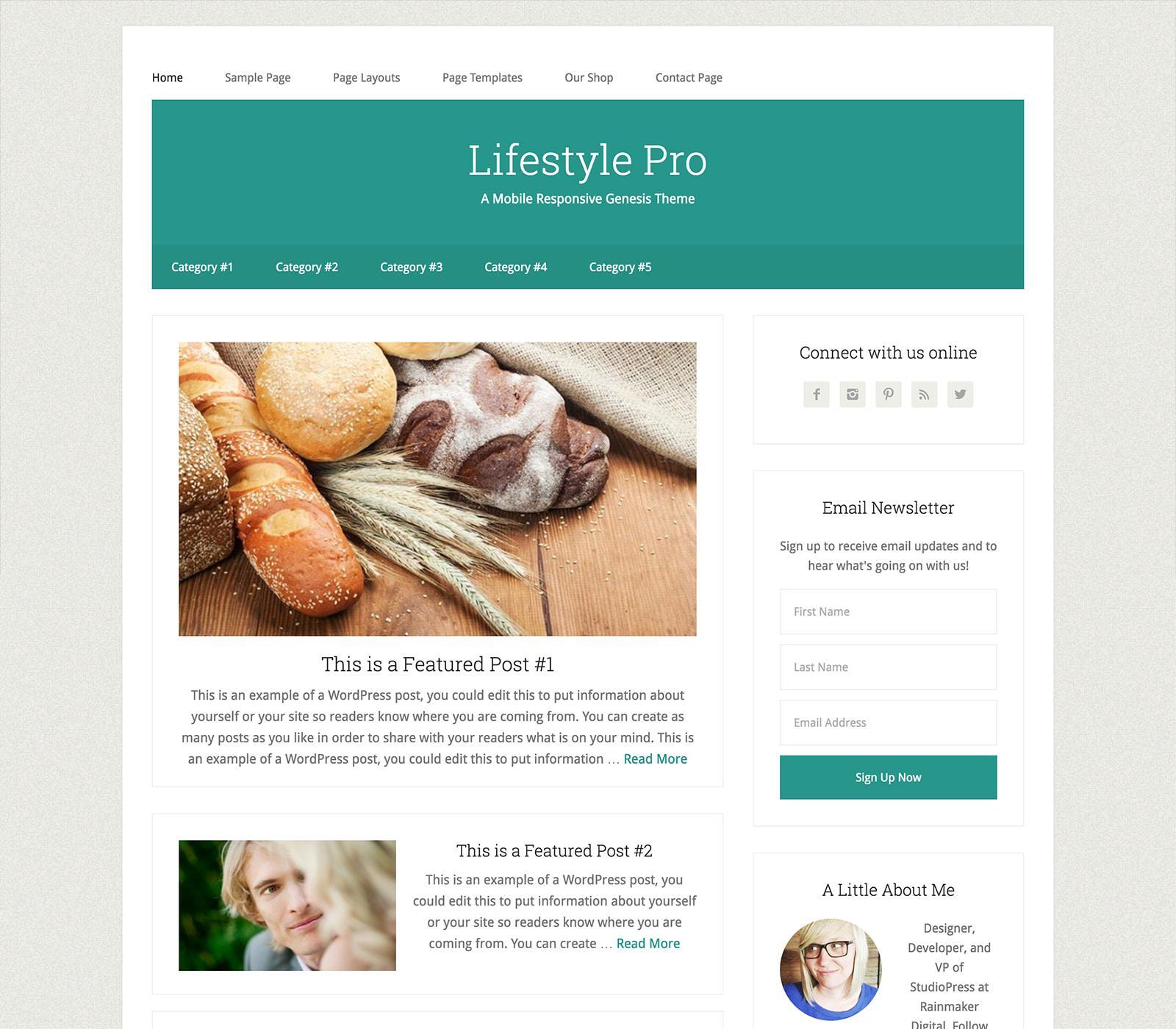 стиль жизни WordPress тема