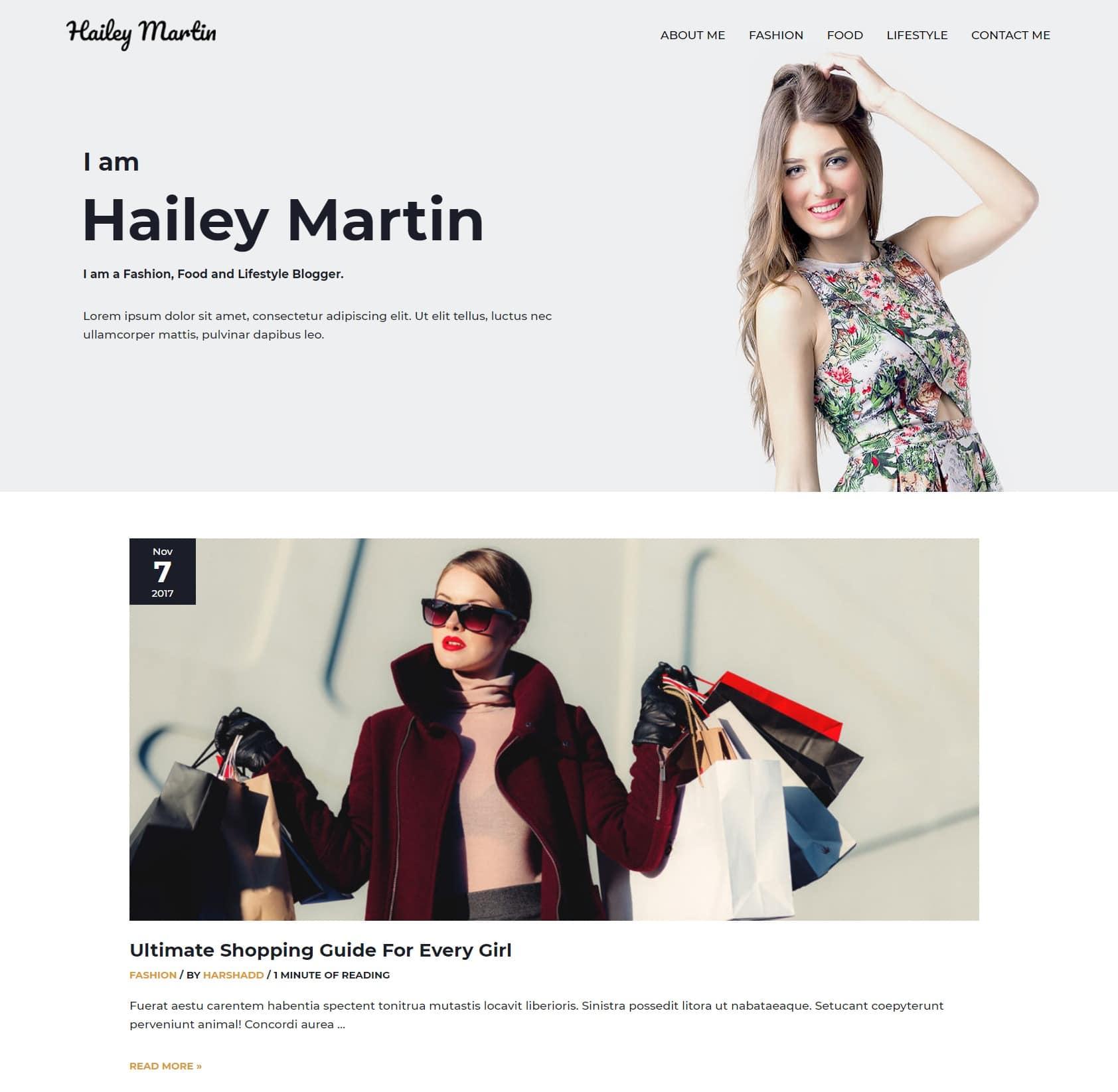 стиль жизни блог WordPress тема