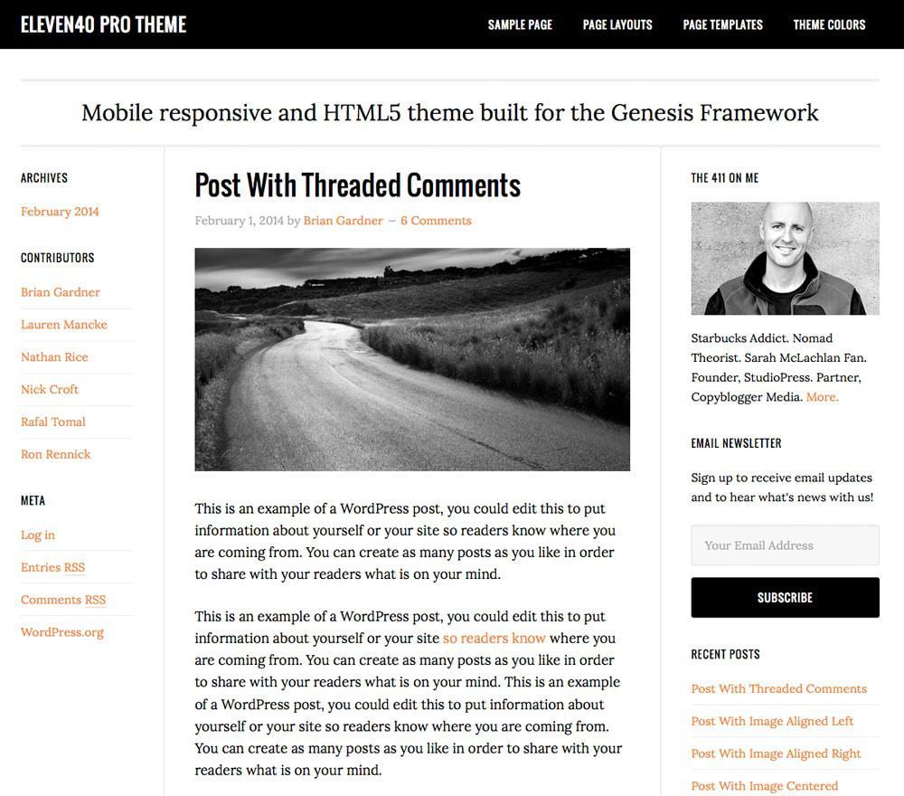 Стиль жизни про тему WordPress