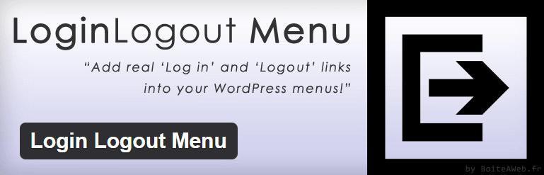 Кнопка входа и выхода в меню сайта на WordPress