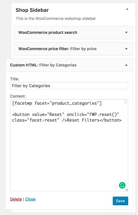 FacetWP + WooCommerce полезные примеры кода для двух популярных плагинов WordPress