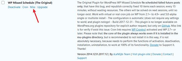 Как исправить ошибку пропущенного расписания в WordPress
