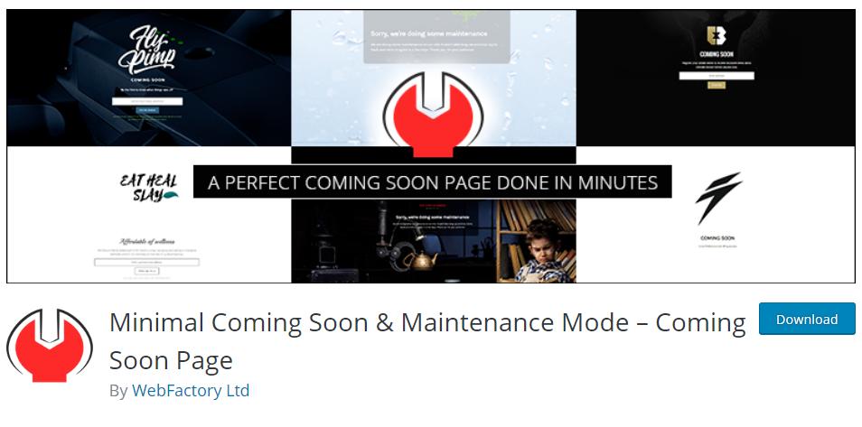 """Создание страниц """"Скоро в продаже"""" с WordPress плагином Minimal Coming Soon & Maintenance Mode от WebFactory"""