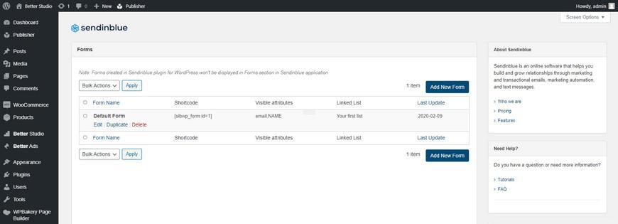 Как установить и настроить плагин Sendinblue для WordPress?