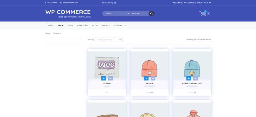 50+ лучших бесплатных тем WooCommerce 2020