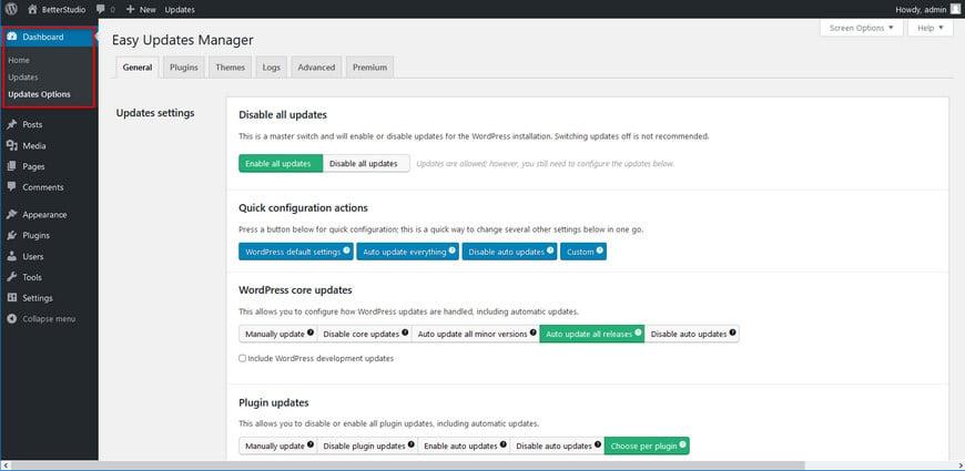 Как отключить автоматическое обновление в WordPress? (Ядро, плагины и темы)