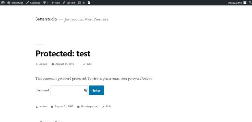 Как защитить паролем страницу WordPress?