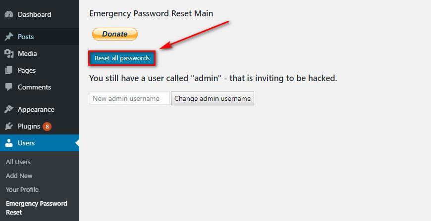 Как изменить пароль WordPress? (База данных, FTP, панель управления)