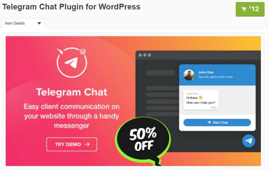 10+ лучших плагинов Telegram для WordPress 2020