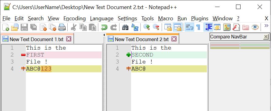 Как сравнить два текстовых файла с помощью Notepad ++