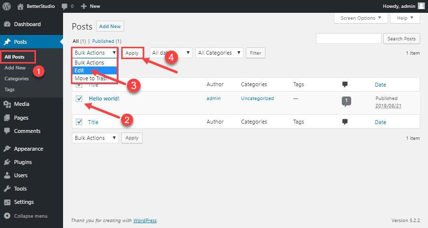 Как добавить категории в WordPress? (Все сценарии)
