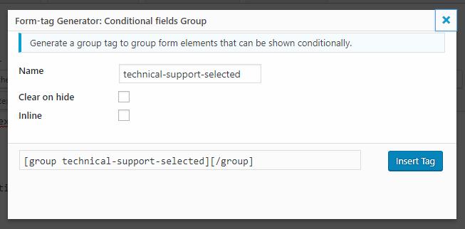 Условные поля для контактной формы 7 Учебное пособие - Контактная форма 7 Условные поля