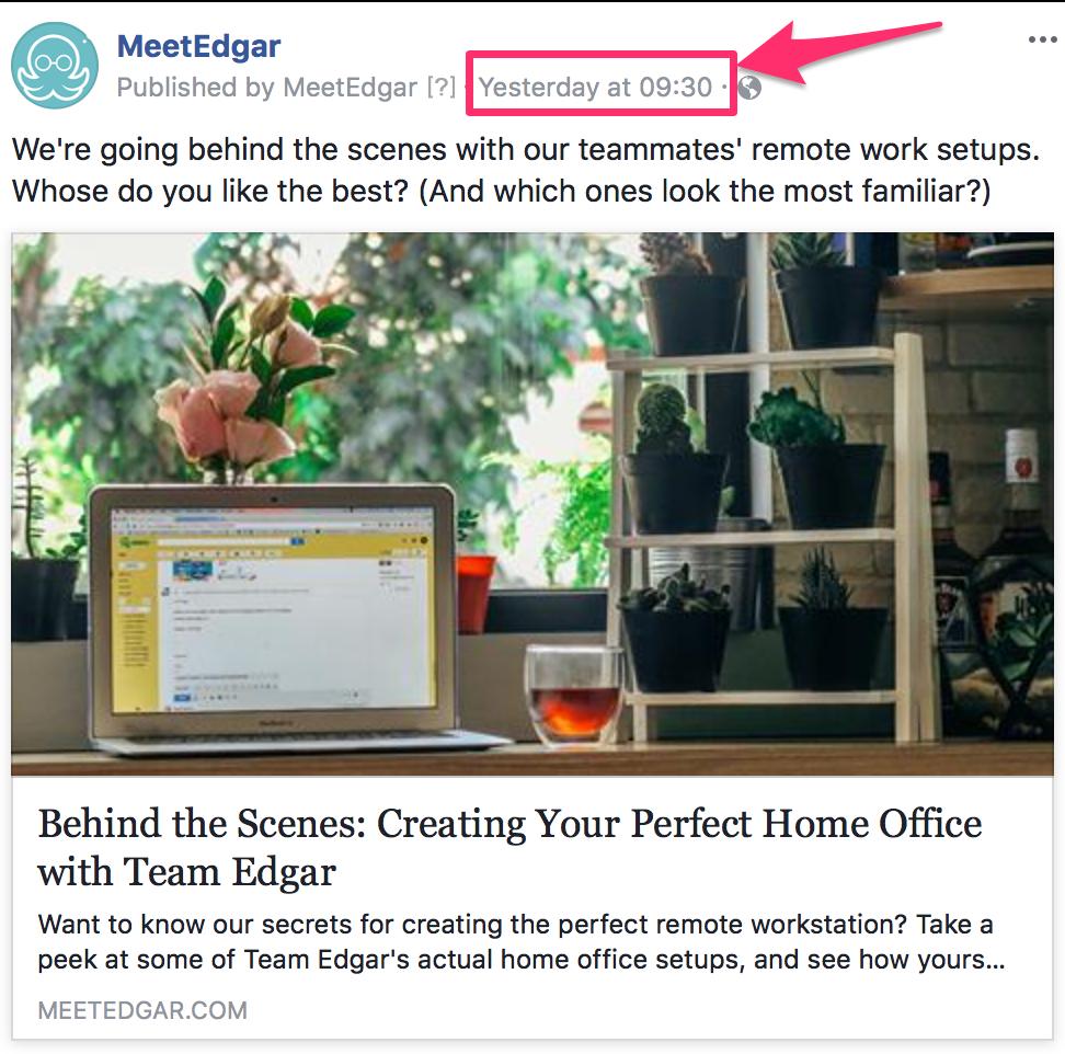 Обновить предварительный просмотр ссылки на Facebook   Справочный центр MeetEdgar