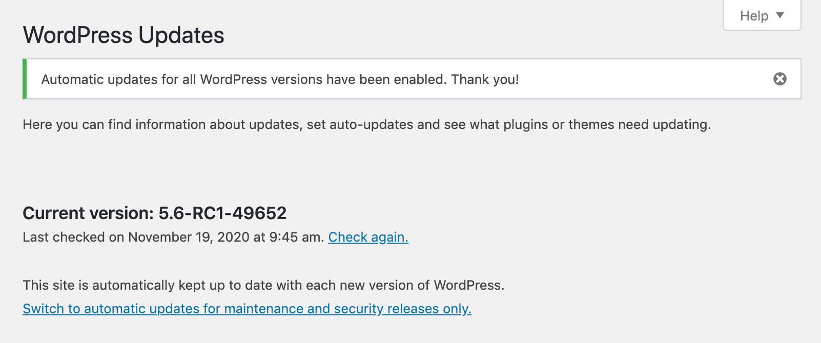 Что нового в WordPress 5.6 (доступность, производительность, безопасность)