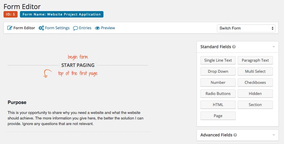 Как создать анкету клиента с помощью Gravity Forms для WordPress