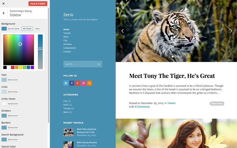 Создайте простой блог с темой Free Zero WordPress