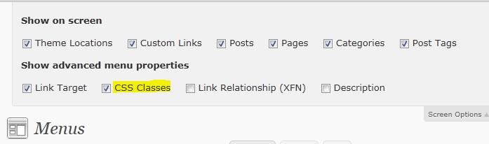 Как добавить значки в меню WordPress