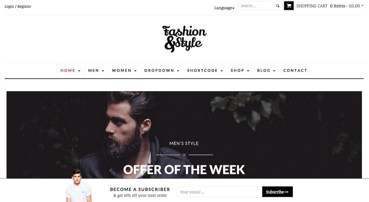 Лучшие темы WooCommerce для модных сайтов