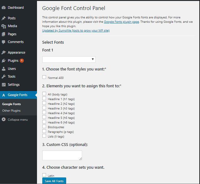 Как добавить пользовательские шрифты на свой сайт WordPress