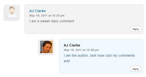 Как выделить комментарии автора в WordPress