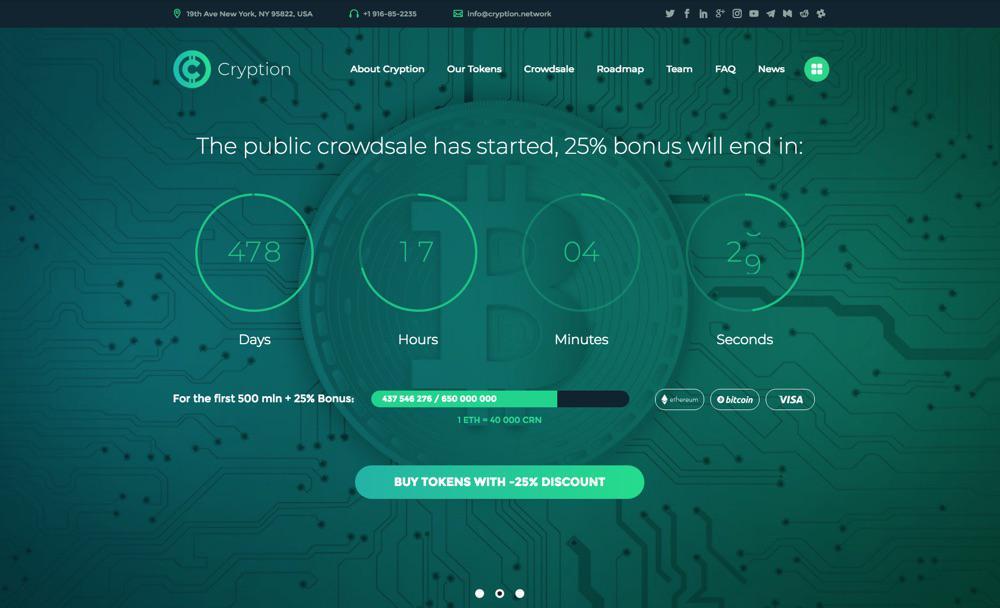 20+ лучших тем WordPress для криптовалюты 2020