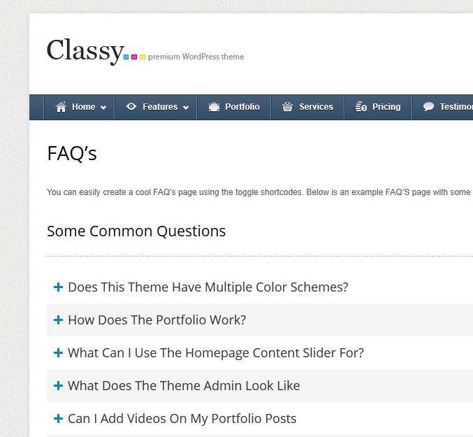 Создание шорткода Toggle для страницы часто задаваемых вопросов WordPress
