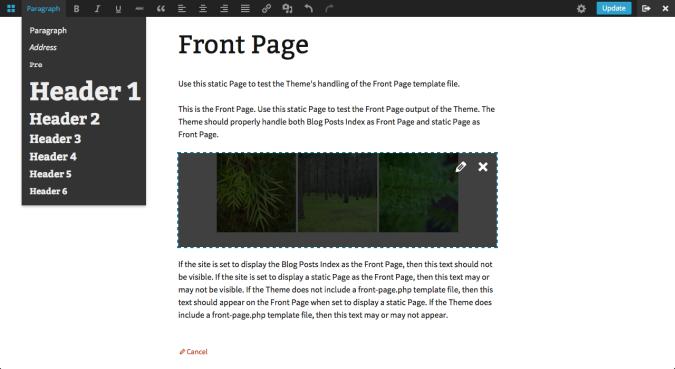 Переход к интерфейсу редактирования в WordPress