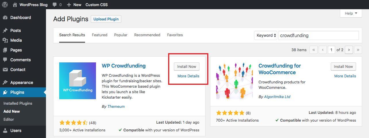 CrowdFund ваши проекты с помощью WordPress