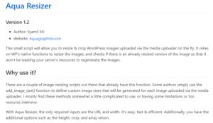 Изменение размера изображений WordPress на лету с помощью Aqua Resizer