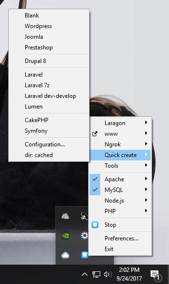 Лучший WAMP-сервер для локального WordPress - Laragon прост - WebTNG